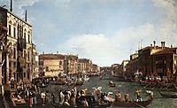 A Regatta on the Grand Canal, 1732, canaletto