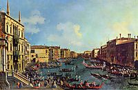 A Regatta on the Grand Canal, c.1740, canaletto