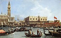 Return of the Bucentoro to the Molo on Ascension Day, 1732, canaletto