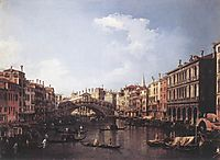 The Rialto Bridge from the South, c.1735, canaletto