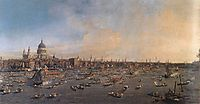 The River Thames with St. Paul-s Cathedral on Lord Mayor-s Day, c.1746, canaletto