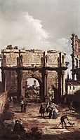 Rome: The Arch of Constantine, 1742, canaletto