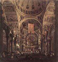 San Marco: the Interior, c.1755, canaletto