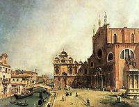 Santi Giovanni e Paolo and the Scuola de San Marco, c.1725, canaletto