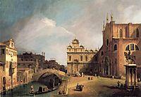 Santi Giovanni e Paolo and the Scuola di San Marco, canaletto