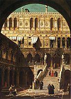 Scala dei Giganti, 1765, canaletto