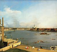 The Thames and the City of London from Richmond House, 1746, canaletto