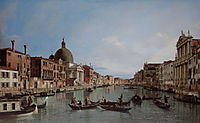 The Upper Reaches of the Grand Canal with S. Simeone Piccolo, 1738, canaletto