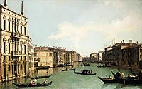 Venice: The Grand Canal, Looking North East from Palazzo Balbi to the Rialto Bridge, c.1724, canaletto