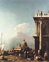 Venice,  The Piazzetta Looking South west towards Santa Maria della Salute, c.1727, canaletto