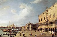View of the Ducal Palace, 1730, canaletto