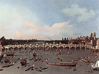Westminster Bridge from the north on Lord Mayor-s Day, 1746, canaletto