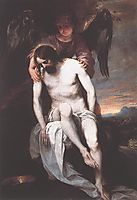Dead Christ Supported by an Angel , 1650, cano