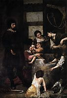 St. Isidore saves a child that had fallen in a well, c.1647, cano