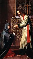 St. John the Evangelist giving communion to the Virgin, cano