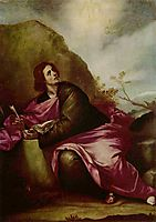 St. John the Evangelist at Patmos, c.1645, cano