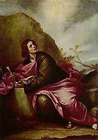 St. John the Evangelist at Patmos, c.1645, cano