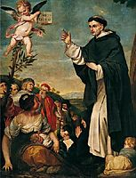 St. Vincent Ferrer preaching, c.1645, cano