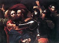 The Arrest of Christ, 1598, caravaggio