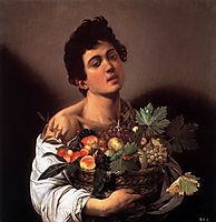 Boy with a Basket of Fruit, 1593, caravaggio