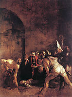 The Burial of Saint Lucy, 1608, caravaggio