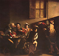 The Calling of Saint Matthew, 1600, caravaggio