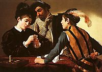 The Cheaters and The Card Players, 1594-1595, caravaggio