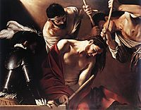 The Crowning with Thorns, 16, caravaggio