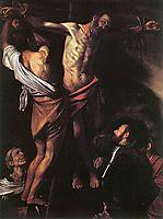 The Crucifixion of Saint Andrew, 1607, caravaggio