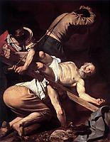 The Crucifixion of Saint Peter, 1600, caravaggio