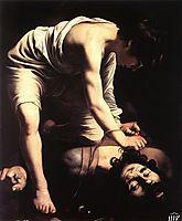David and Goliath, 1600, caravaggio