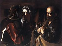 The Denial of Saint Peter, 1610, caravaggio