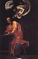 The Inspiration of Saint Matthew, 1602, caravaggio
