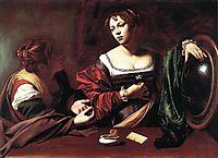 Martha and Mary Magdalene, ~1598, caravaggio