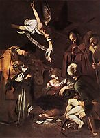 Nativity with Saint Francis and Saint Lawrence, 1609, caravaggio