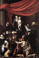 Our Lady of the Rosary, 1607, caravaggio