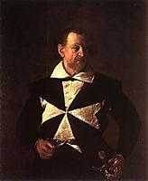 Portrait of Alof Wignacourt, 1608, caravaggio
