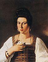 Portrait of a courtesan, ~1598, caravaggio