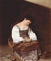 Repentant Magdalen, 1593-1594, caravaggio