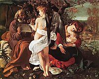 Rest on the Flight into Egypt, 1596-1597, caravaggio