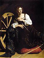 Saint Catherine of Alexandria, ~1598, caravaggio