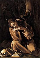 Saint Francis, 1606, caravaggio