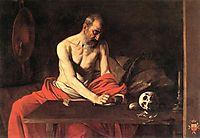 Saint Jerome, 1607, caravaggio