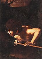 Saint John the Baptist at the Fountain, 1607-1608, caravaggio