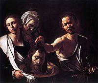 Salome with the head of Saint John, ~1607, caravaggio