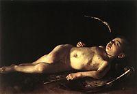The Sleeping Cupid, 1608, caravaggio