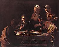 The Supper at Emmaus, 1606, caravaggio
