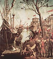 Arrival of St.Ursula during the Siege of Cologne, 1498, carpaccio
