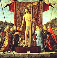 Christ with the Symbols of the Passion Surrounded by Angels, 1496, carpaccio