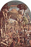 The Crucifixion and the Glorification the Ten Thousand Martyrs on Mount Ararat , 1515, carpaccio